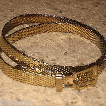 Whiting & Davis Vintage Womens Gold Tone Mesh Belt Photo