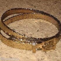 Whiting & Davis Vintage Womens Gold Tone Mesh Belt Photo