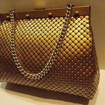 Whiting & Davis Vtg Gold Matte Mesh Aluminum Metal Purse Large Handbag Purse Photo