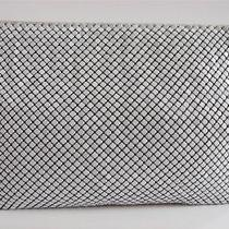 Whiting Davis Vtg White Mesh Metal Signed Evening Bag Purse Detachable Strap Photo