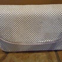 Whiting & Davis White Mesh Handbag Purse Medium Sixe 9 1/2 Inches New Photo