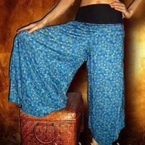 Wide Leg Pants Trousers Casual Relax New Boho Hippie Gypsy Sexy Pfp3136 Sz S M L Photo