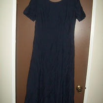 Wild Rose Vintage Navy Blue Floral Element Classic Elegant Cocktail Dress 12 Photo