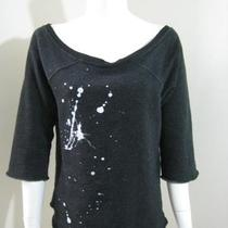 Wildfox Paint Splash Design Raglan Sleeve Sweat Top S291 Xs Photo