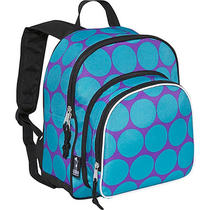 Wildkin Big Dots Aqua Pack 'N Snack Backpack - Big Dots Photo