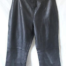 Willi Smith Collection Pants Size 12 Black 100% Lamb Leather  Photo