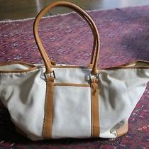 Williams-Sonoma Hold Everything Elegant Canvas and Leather Trim Tote Bag Coach Photo