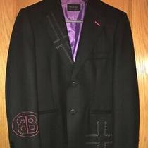 Wilsons Leather Pelle Studio L Blazer Black Wool Blend Balenciaga Logo Type Photo