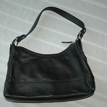 Wilsons Leather Womens Black Small Hobo Bag Handbag Purse Photo