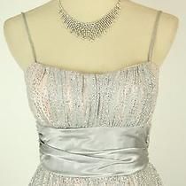 Windsor 85 Silver Blush Evening Prom Formal Cruise Dress Short Sz 11 Homecoming Photo