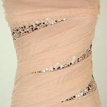Windsor 90 Blush Evening Prom Formal Cruise Dress Short Size 3 Homecoming Gown Photo