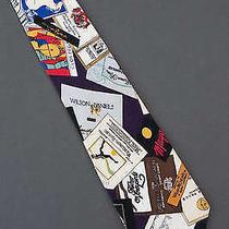Wine Labels - Silk Nicole Miller Tie Necktie Photo