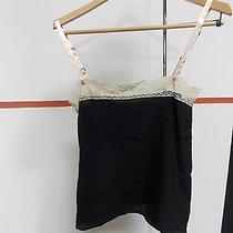 Winter Kate New With Tags Black W Cream Lace Detail Thistle Silk Crepe Tank Xs Photo