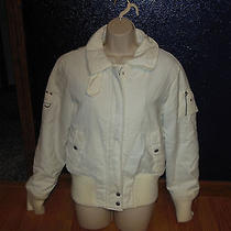 Winter White Guess Jeans Winter Coat Size Xl Photo