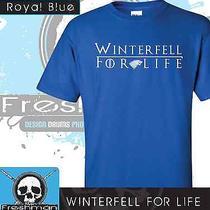 Winterfell for Life-Stark-White Walker- Game of Thrones- Blue-Medium Photo