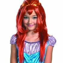 Winx Club Bloom Wig Girls Long Red Hair Fairy Princess Mermaid Costume One Size Photo