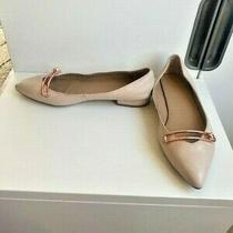 Witchery Leather Flats Blush Pink/rose Gold Size 37 rrp129.99 Euc Photo