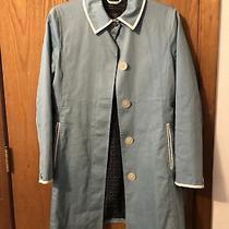 Wmns Coach Cotton & Leather Trim Trench Coat Size 4 Photo