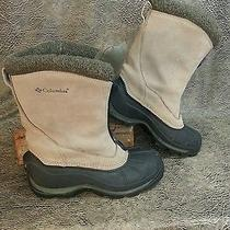 Wmns Columbia Johnnie Zip Leather Thermolite Insulated Winter Boots Sz 7.5 -Nuc Photo