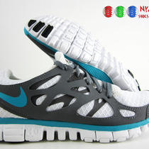 Wmns Nike Free Run  2 Id 3.0 White-Grey-Aqua Sz 6.5 Photo