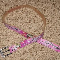 Wmns Pink Sz X-Large Ed Hardy Leather Belt Photo