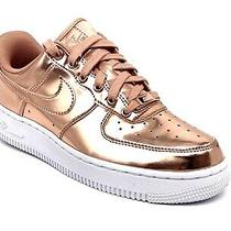 Wms Nike Air Force 1 Low Metallic Bronze Rose Gold Size 7 - Cq6566-900  Photo