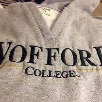 Wofford College Sweatshirt Gray Size Medium v-Neck With Hood Photo