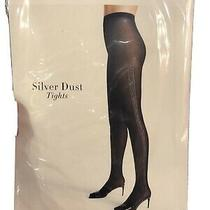Wolford Black Silver Dust Tights Xs Photo