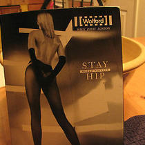 Wolford Black Stay Hip Pantyhose - Med/black Photo