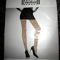 Wolford Miss W Light Support Tights Size Medium --Oyster (Nude) M (12-14) Photo