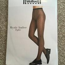 Wolford Mystic Amber Tights Fine Patterned Tights S Black/black Photo