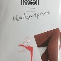 Wolford Phantasmal Poison Tights Xs Chateau Red Rust Photo