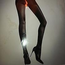 Wolford Satin De Luxe Luxury Tights Black M Med Nip Photo