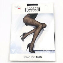 Wolford Seraphine Tights With Swarovski Elements - Black - Large - New Sealed Photo