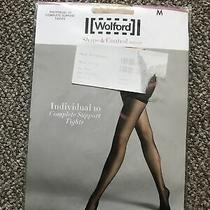 Wolford Shape & Control Tights Complete Support Sz M Colour Powder  Photo