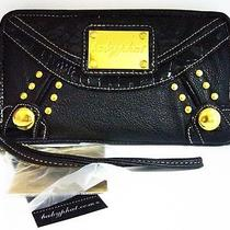 Woman Baby Phat Zip Around Wrist Strap Credit Card Wallet Bp6033 Black Nwt Photo
