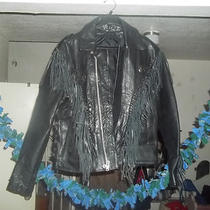 Woman Leather Jacket Hudson Leather Genuine Leather Size 44. Photo