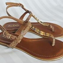 Woman's Aldo Loalian Sandal Cognac Size 6 Photo