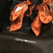 Womans Armani Gold Silk Boots Photo