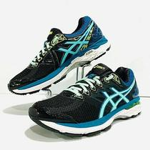 Womans Asics Gt 2000 4 Running Shoes. Size 8black/pool Blue/flash Yellow Photo