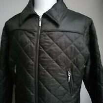 Womans Barbour Size 16 Green Quilted Flyweight Utility Jacket Coat Great Cond. Photo