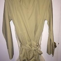 Woman's Beige Wrap Over Shirt