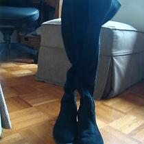 Woman's Black Suede Boots Photo