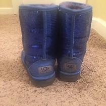 Woman's Blue Sparkly Uggs Photo