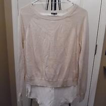 Woman's Blush Colored Layered Look Sweater Size Medium Photo