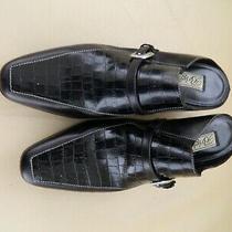 Woman's Brighton Tiana Black Leather Heeled Mules Size 7.5m Photo