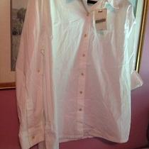 Woman's Classic Elements White Button Down Shirt. Sz Xl-16z Ships Free Photo