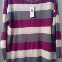 Woman's Design History Stripped Sweater 3x Nwt Photo