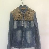 Womans Dolce & Gabbana Denim Floral Shirt Size S - M Vgc Photo