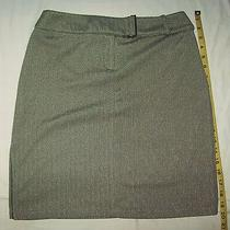 Woman's Express Black/white Skirt Built in Belt Stretchy Size 3/4 Side Slit Nice Photo